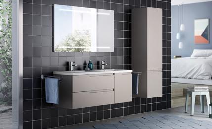 Meuble salle de bain moderne mobilier armoires etc for Baignoire faible largeur